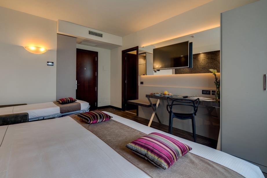 Tanti servizi nelle camere del BW Plus Hotel Farnese
