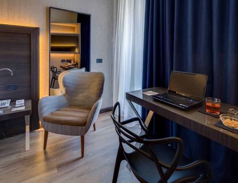 Eleganza nelle camere del BW Plus Hotel Farnese