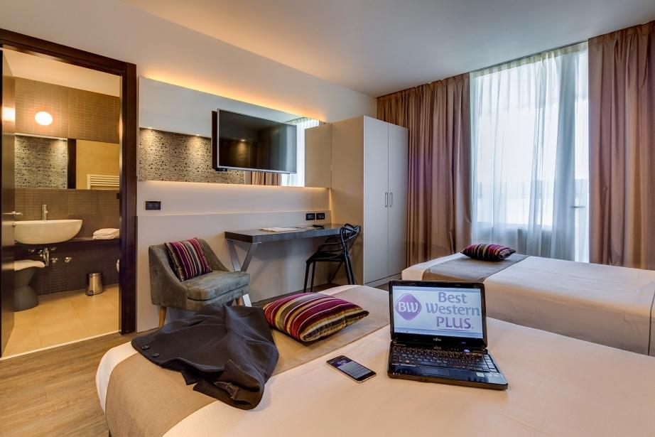 Ampie e con tanti servizi le camere dell'Hotel Farnese