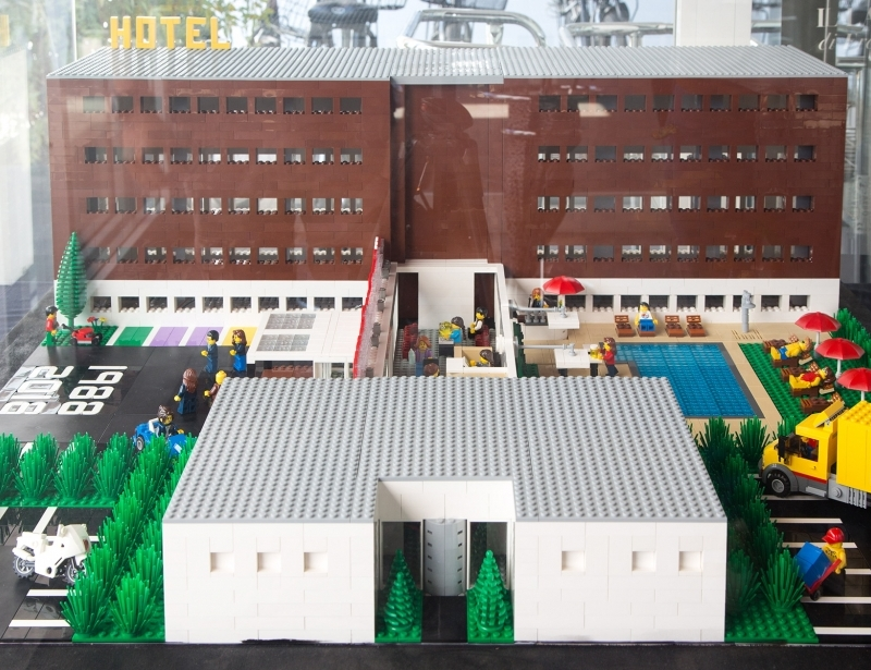 Our 4-star hotel in Parma... Lego version